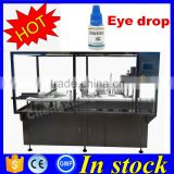 Factory price mechanical hand eye drop filling machine(feeding turntable+filling+plugging+capping+dust cover)