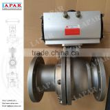 LAPAR ISO 5211 Mounting Pad DN150 CL150 Automatic Stainless Steel Flanged Ball Valve, Full Port Floating Ball Valves
