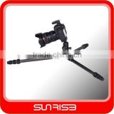 2014 Sunreise new arrival professional carbon fiber camera tripod with ball head,professional video tripod
