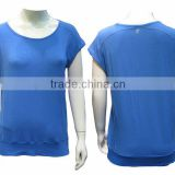 Lady's bamboo carbon running wear sport t-shirts cricket