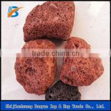 High Quality Black and Red Rock Volcanic Stone for Grill and Barbecue