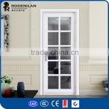 ROGENILAN 45 series professional powder coated double glazing frosted glass aluminium casement door with best price