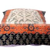 RTHCC-55 Star Diamond Applique Cut Patchwork Art Kantha Cotton cushion covers New Year Christmas Home Decor Gift