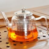 wholesale 1200ml Borosilicate Glass Commercial Tea Pot With Stainless Steel Infuser PA17001