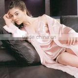 2015 Summer Ladies Silk Sleepwear New Fashion Girls Beauty Silk Pajamas