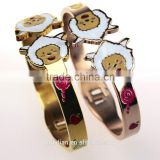 Hot selling Engravable expanding gold plated baby bangle bracelets