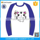 Gold supplier OEM Raglan Long Sleeve Blank Baseball Jerseys Tee Shirts Wholesale T Shirt