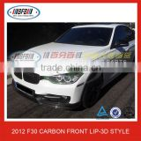 3 Series F30 Carbon Front Bumper Lip 3D Style For BMW F30 2012