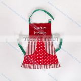 Eco-Friendly Cotton Embroidery Christmas Kitchen Cooking Promotion Kids Apron