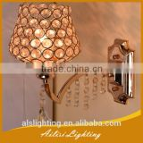 Contemporary Top Quality Beautiful Gold Crystal Wall Lamp with Pipa Drops