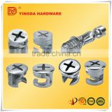 Hot sale nickel zinc alloy cam bolts furniture for cabinet from furniture bolts alibaba china