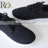 The shoes lady sneaker shoes 2016 active sports shoes black mesh woven fabric upper woman walking shoes
