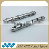 6 holes stainless steel pipe 304 bamboo joint shape pipe for underfloor heating manifold group