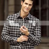Good quality soft cotton plain flannel shirts for men