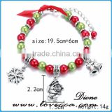 Fashion Christmas Children Necklace and Bracelet Jewelry Sets for Kids Jewelry Decoration Dress Accessories Christmas Gift