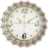 Home decor quartz crystal plastic wall mounted clock