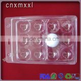 Golf ball tray blister packaging box