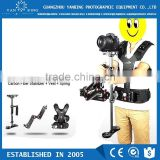 Professional LAING video flycam dslr camera stabilizer+dual arm+vest gyro steadycam for 8kg camera