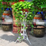 XY1103 white color wedding flower stand tall wrought iron plant pot shelf garden decor metal display rack
