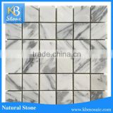 4.8 arabescato natural stone square marble backsplash tile