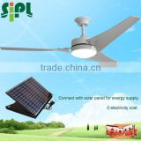Vent tool new idea Decorative Solar cooling fan 24v dc motor solar panel power ceiling fan