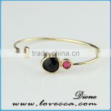 Top sale Bridal bracelet gemstone jewellery Glass Bangle Bracelet