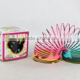 colorful plastic magic rainbow spring toys/hot sale rainbow circle