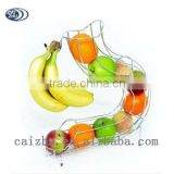 Wholesale fruit basket with banana holder hook hanging wire basket