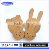 Customed size and shape printed factory directly manufacture kitchen accessories cork protector mat
