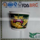 Chinese high quality and reasonable price round bottom noodle soup bowl/instant noodle bowl/noodle paper bowls