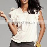 Hot sell!!NICE!!8TP262 Ruffled chiffon blouses for summer,high quality,competitive price