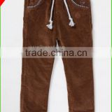 Baby Boy's autumn &winter apparel casual corduroy pants in solid color woven pants for kids