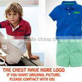 brand new boys and girls polo clothing sets kids polo summer suits baby outfits