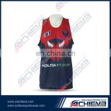 custom cheerleading uniforms bra dye sublimation singlet OEM service for ladies sports