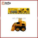 Small plastic construction toy vehicles