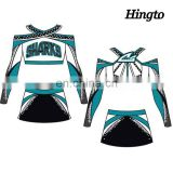 Sexy adult cheer dance clothes cheerleading costume unoform sublimation printing design cheap