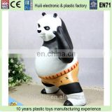 plastic customized cartoon money box, pvc coin box factory, saving box money box plastic piggy bank