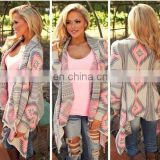 Wholesale Hot sale in Europe printing cotton cardigan long sleeve coat