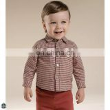 T-BSS005 Boy Cufflink Stylish Flannel French Style Shirts