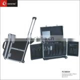 High quality ,Rolling Professional Aluminum Trolley Hairdressing Beauty Case Cosmetic Case on wheels