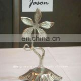 Metal Leaves Wedding Favor Place Card Holder