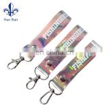 New Products Holographic Material PVC Cell Phone Keychain With Custom LOGO