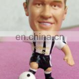 football player pvc figure