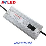 Wide input voltage ip67 110-250v 250 watt led driver with dimmer
