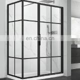 Bathroom clear tempered glass door shower glass price