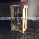 Custom logo and color wooden wine bottle crate,wood box for wine transport