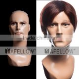 Realist Men fiberglass head mannequin Male Hair display model H1107