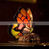 tiffany table lamp stained glass blue butterfly night light LED decoration ancient light unique bedroom lighting