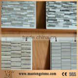 2016 America Hot Sale Crystal Glass Mixed Wood Grain Marble Mosaic for Backsplash