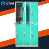 6 Compartment School Lockers Designs Clothes Storage Steel Locker Used High School Lockers For Sale